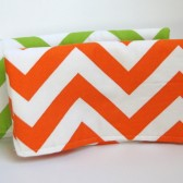 Chevron Stripe Clutch