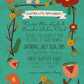 Rustic Birdie Invite