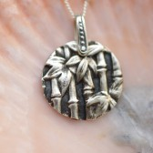 Fine Silver Bamboo Necklace