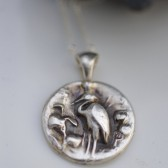 Fine Silver Egret Necklace