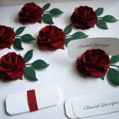 Place Card Holders - Handmade paper flowers