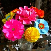 Bouquet Centerpiece - handmade paper flowers designed by Dragonfly Expression