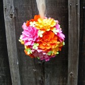 Pomander - handmade paper flowers - designed by Dragonfly Expression