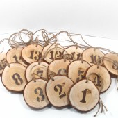 Rustic Wedding wooden Table Numbers