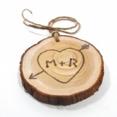 Rustic Wedding Tree Ring with Initials