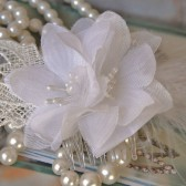 White Bridal Hair Flowers