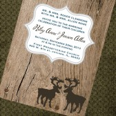 Rustic Moose Invite