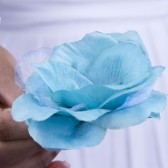 Turquoise Crystal Rose Hair Clip