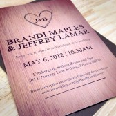 Wood Carved Wedding Invitation