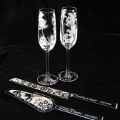 Beach wedding Cake Server Set