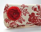 Ruby and Ivory clutch