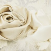 bridal sash - satin bridal sash and silk flowers with feathers