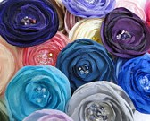 Fabric Flower Set of 5