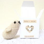 Crocheted Bird in Personalized Gift Box