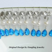 Marine blue Dangle Earrings