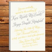 Vintage Calligraphy Wedding Invitation Set