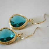 Sea Green Glass Earrings