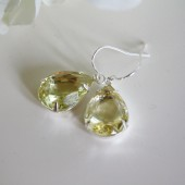 Citrine Rhinestone Earrings