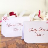 Wedding Place cards - Pink Flower