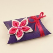 purple pillow favor box