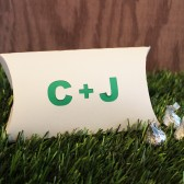Custom Initials Pillow Favor Box