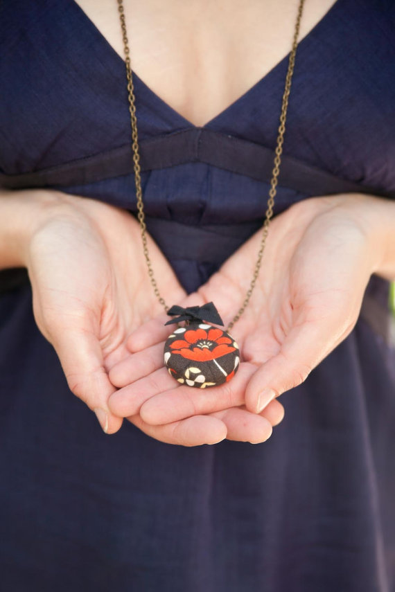 bridesmaid chalkboard locket necklace (by zelma rose)