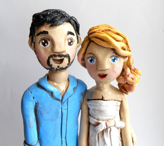custom cake topper couple