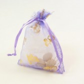 lilac butterfly favor bag