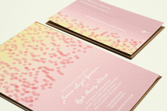 confetti wedding invitations (by crafty pie)