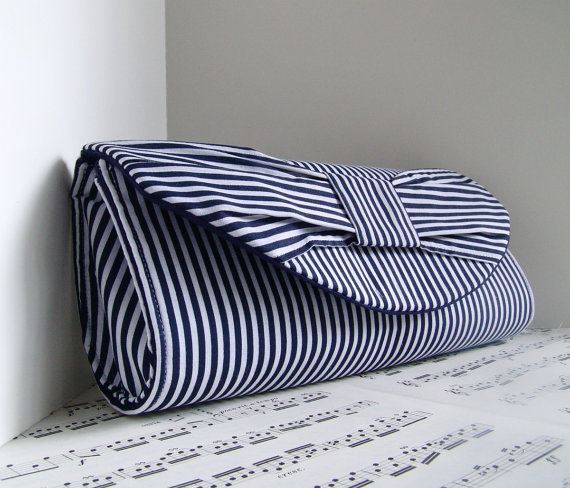 nautical wedding clutch