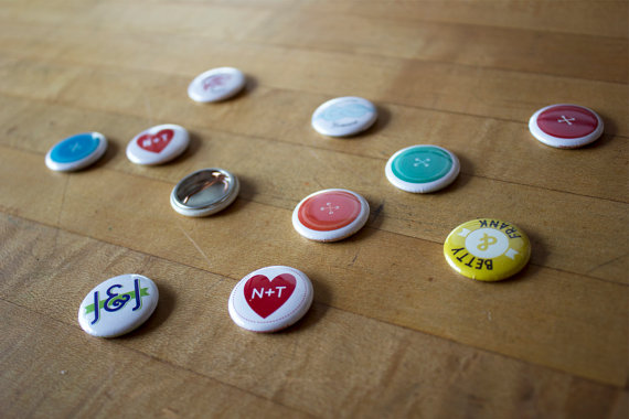 wedding buttons