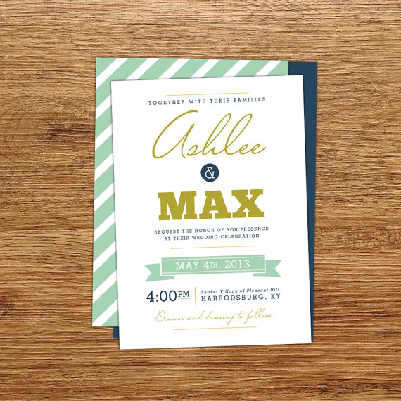 modern wedding invite
