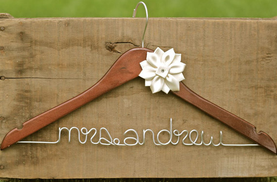 personalized dress hanger