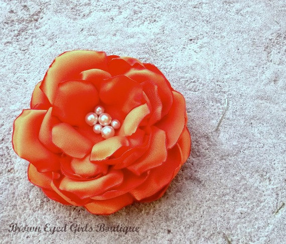 pumpkin orange bridal flower