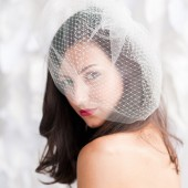 Double layer birdcage veil by Tessa Kim