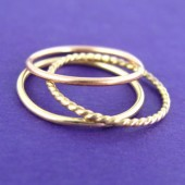 14K Gold Filled Stacking Ring Set