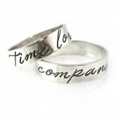 "Doctor Who ""Time Lord & Companion"" Wedding Bands"