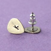Mini Guitar Pick Stud Earrings
