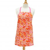 Kitchen Apron | Orange and Pink Floral