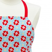 Kitchen Apron | Aqua and Red Floral