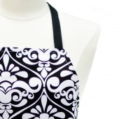 Kitchen Apron | Black Damask