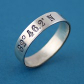 Latitude and Longitude Coordinates Wedding Band