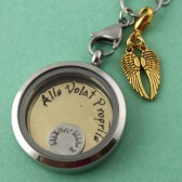 She Flies With Her Own Wings Floating Locket Set