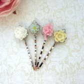flower hair bobby pin