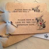 wonderland invitations