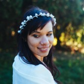 Frosted White and Silver Winter Headband