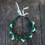 White Calla Lily Hair Wreath