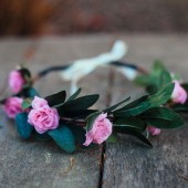 Baby Pink Rose Wedding Crown