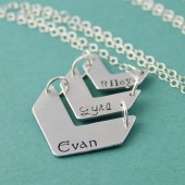 Personalized Chevron Necklace