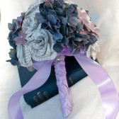 Book Page Rose and silk Hydrangea Bridal Bouquet
